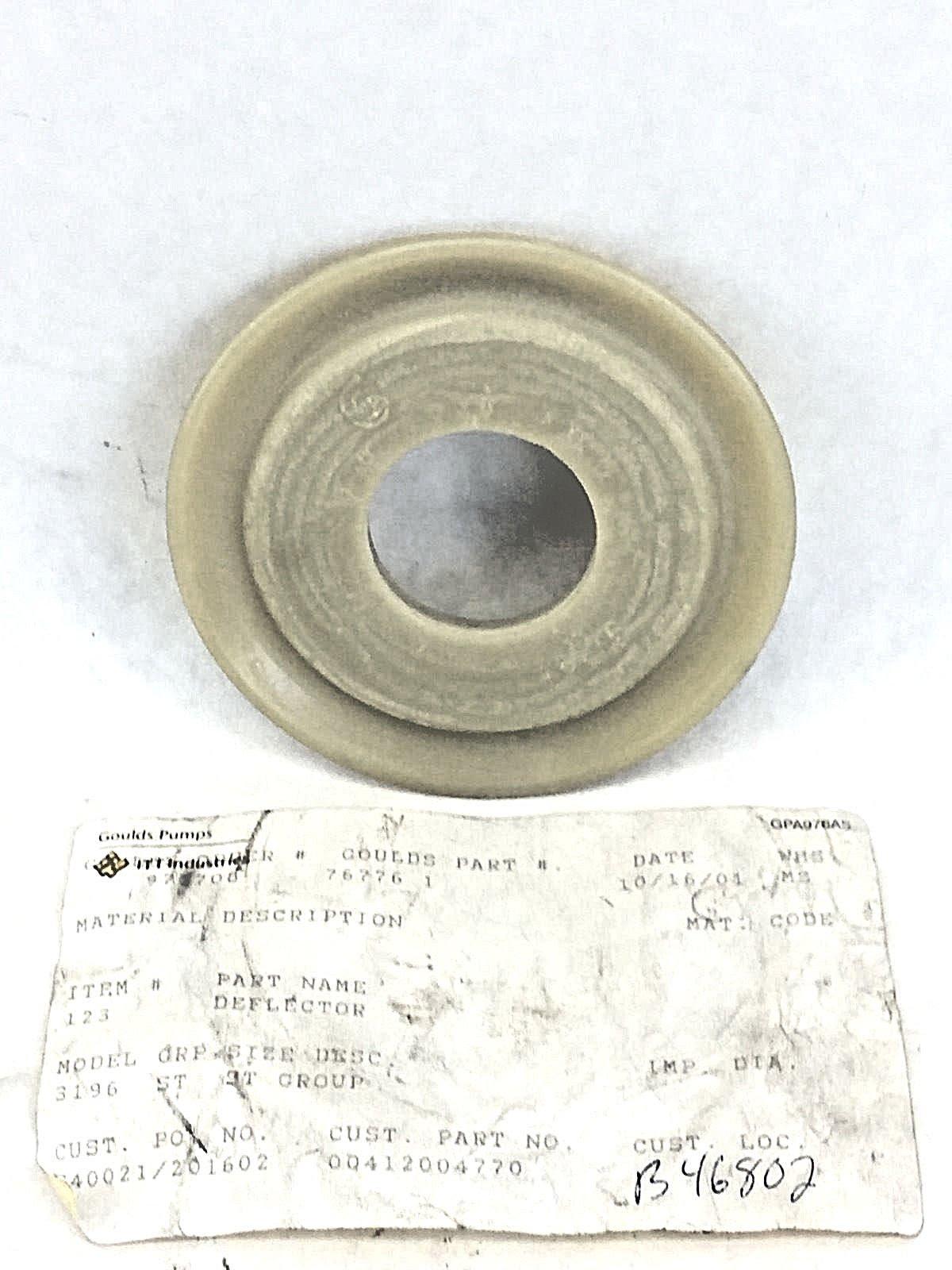 GOULDS PUMP 76776-1 NON-METALLIC DEFLECTOR MODEL 3196-ST GROUP 412004770  (A657)