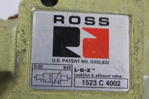 Ross 1523 C 4002 Lockout and Exhaust valve *NEW* (B251) 2