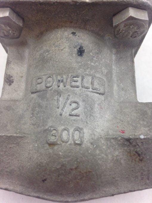 POWELL 1/2 T-316 GATE VALVE (B433) 2