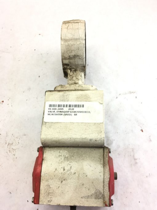 USED DYNAQUIP G1WCSSR03D33 VALVE WITH ACTUATOR, FAST SHIPPING! (B333) 2