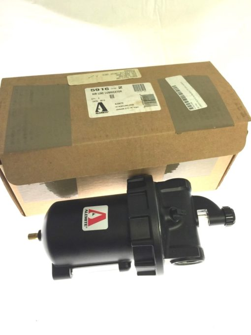 Alemite 250psi Air Line Lubricator 1in FPT Inlet-outlet 5916-2, NEW IN BOX, B96 2