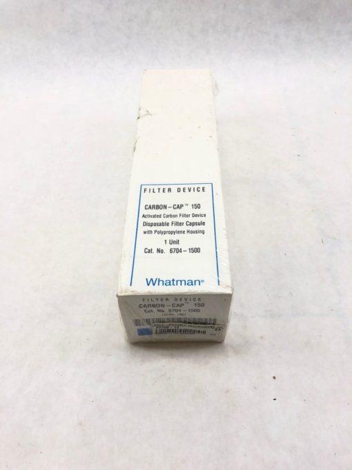 NEW IN BOX WHATMAN 6704-1500 CARBON CAP 150 CAPSULE FILTER, FAST SHIP! (B433) 1
