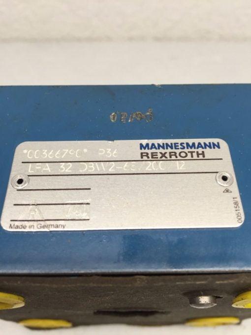 MANNESMANN REXROTH LFA 32 DBW2-65/200/12 HYDRAULIC VALVE (H264) 3