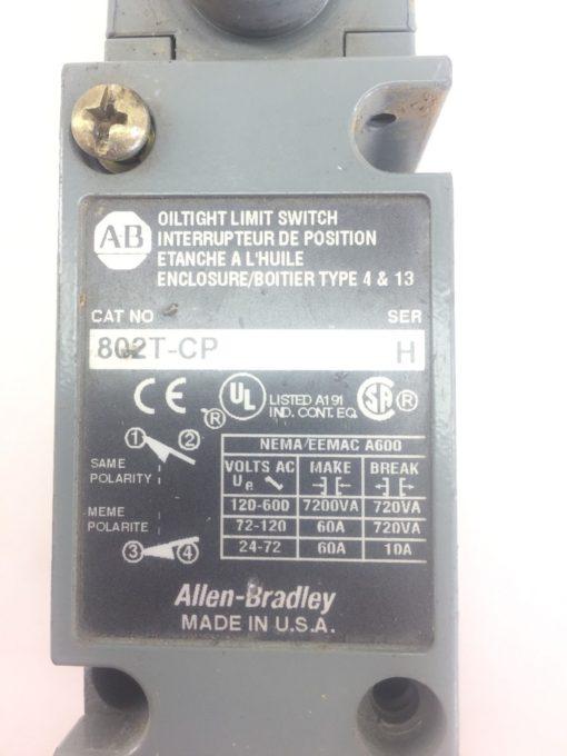 ALLEN BRADLEY 802T-CP OILTIGHT LIMIT SWITCH NEW NO BOX (SB4) 2