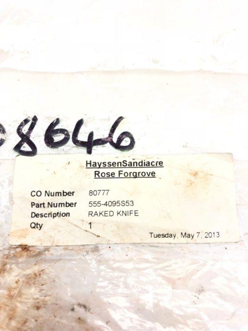 NEW ROSE FORGROVE 555-4095S53 RAKED KNIFE 555-4095-S53, FAST SHIP! (H350) 2