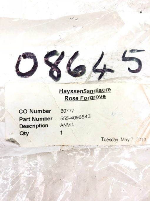 NEW ROSE FORGROVE 555-4096S43 ANVIL, BLADE 555-4096-S43, FAST SHIP! (H350) 2