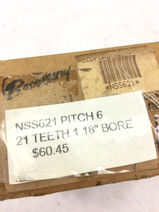 """NEW IN BOX BROWNING NSS621 EXTERNAL SPUR GEAR, 21 TEETH, 1 1/8"""" BORE, (B383) 2"""