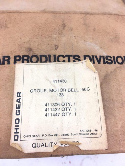 NEW IN BOX OHIO GEAR 411430 MOTOR BELL 56C 133, 411306, 411432, 411447, (B383) 2