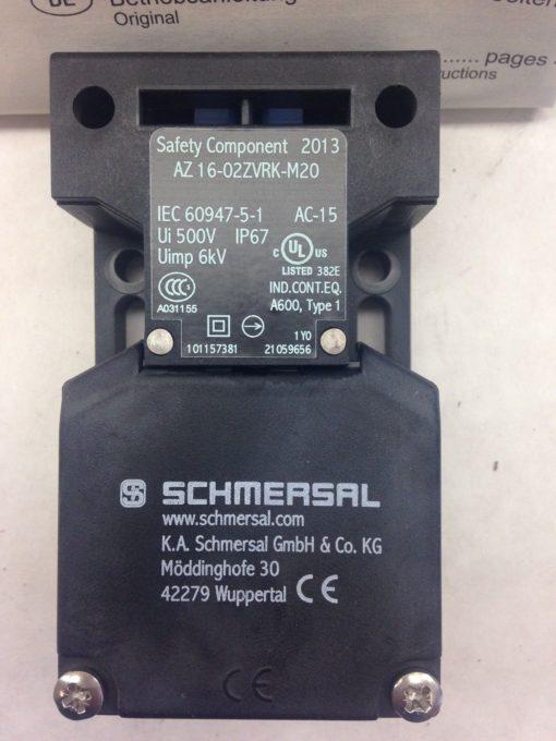 SCHMERSAL AZ16-02ZVRK-M20 SAFETY INTERLOCK SWITCH (A773) 2