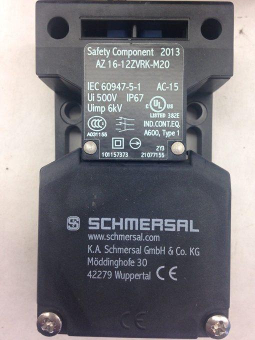 SCHMERSAL AZ16-12ZVRK-M20 SAFETY INTERLOCK SWITCH (A774) 2