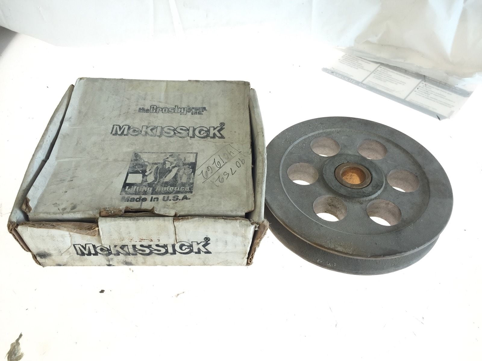 """Crosby McKissick Sheave 460986 7.5/"""" for 5//8/"""" Wire 1/"""" Hub SD289 B49 NEW!!"""