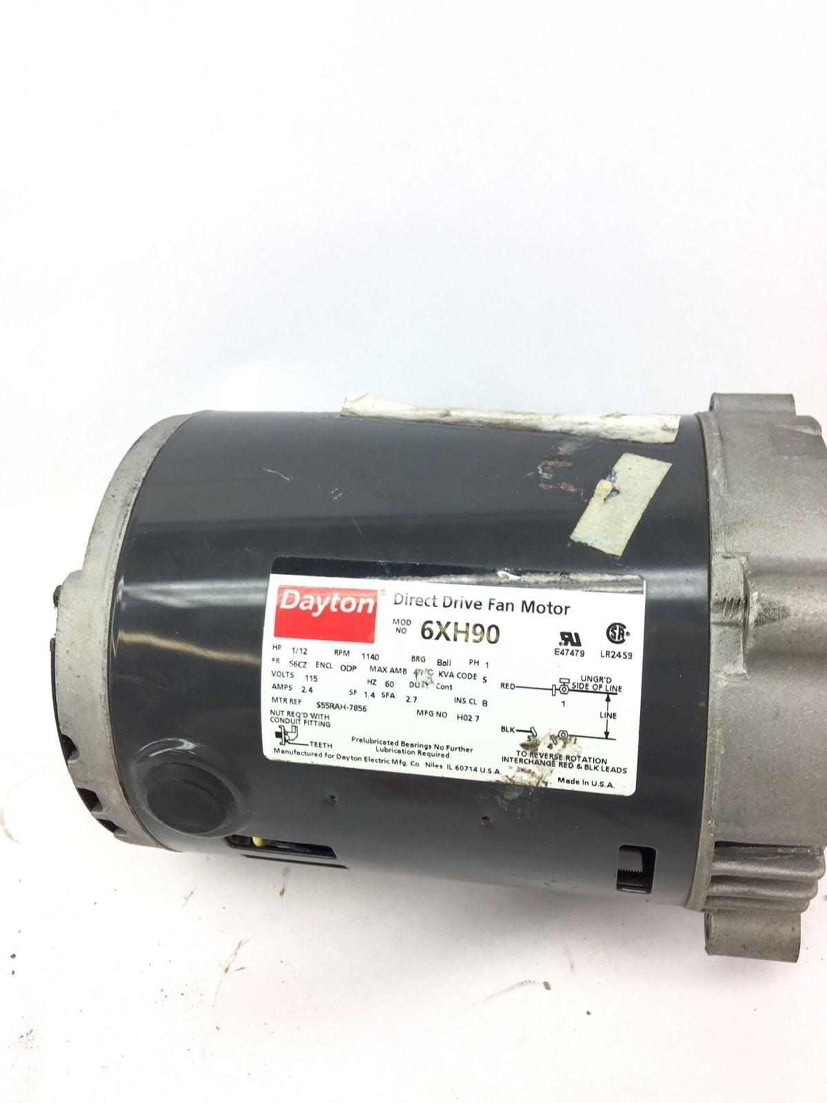 Motor 1//2hp D//D Blower Dayton