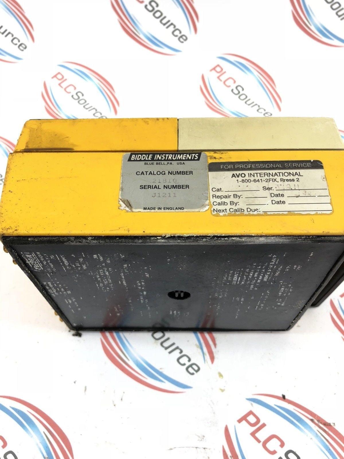 Biddle Instruments Analog Meter Megger Bm10 Megohmmeter 21810