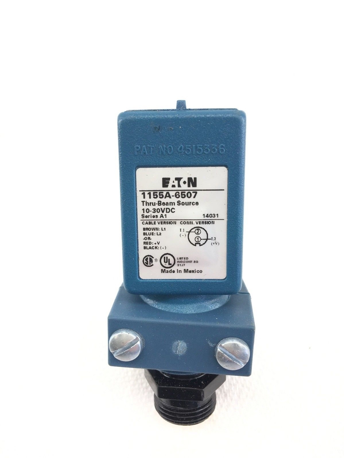 NEW EATON 1155A-6507 THRU-BEAM SOURCE 10-30VDC SERIES A1, FAST SHIP! (A594) 2