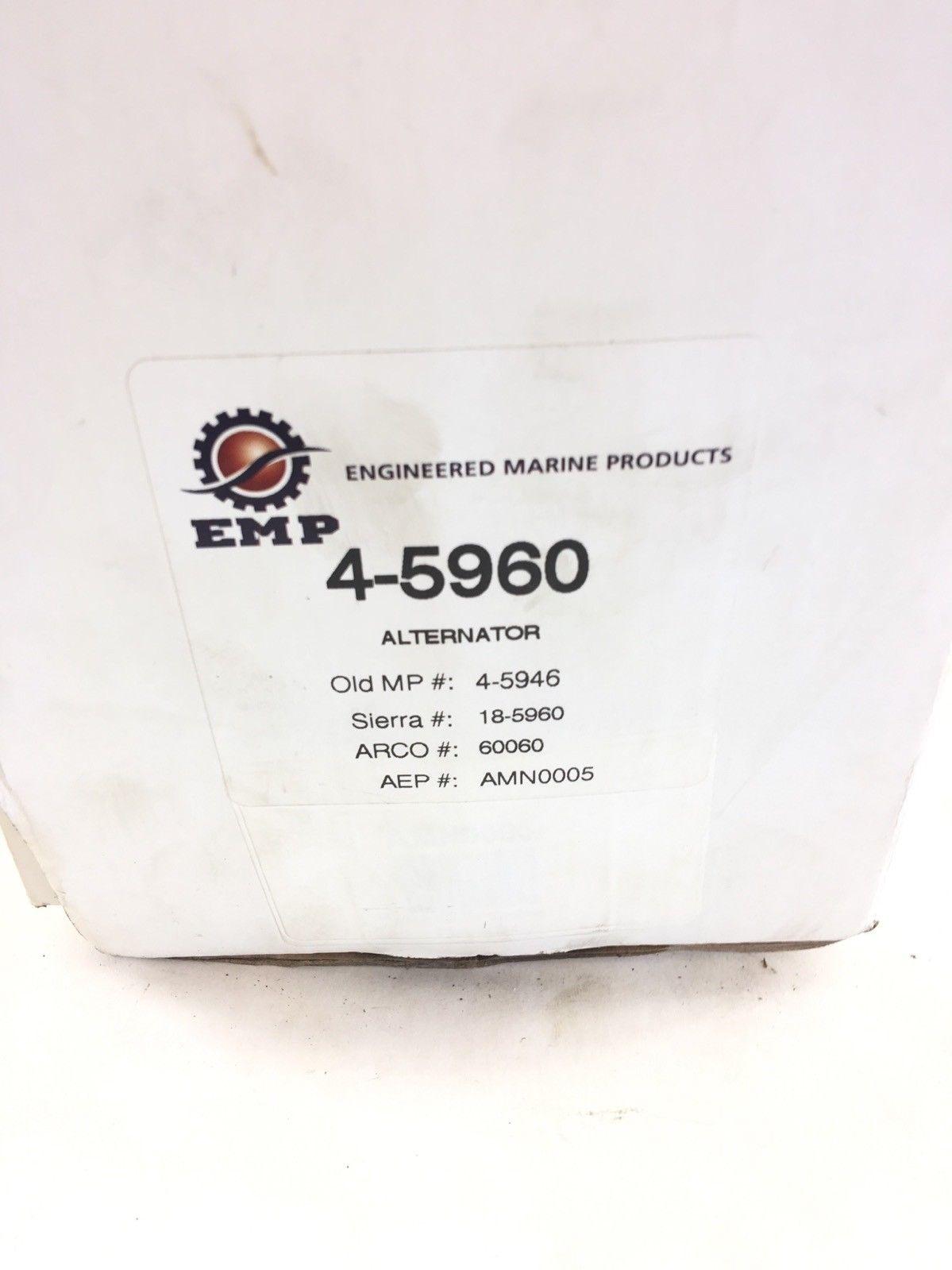 NEW IN BOX EMP ALTERNATOR 4-5960 AMN0005 18-5960 60060 4-5946 MERCRUISER, (B398) 2