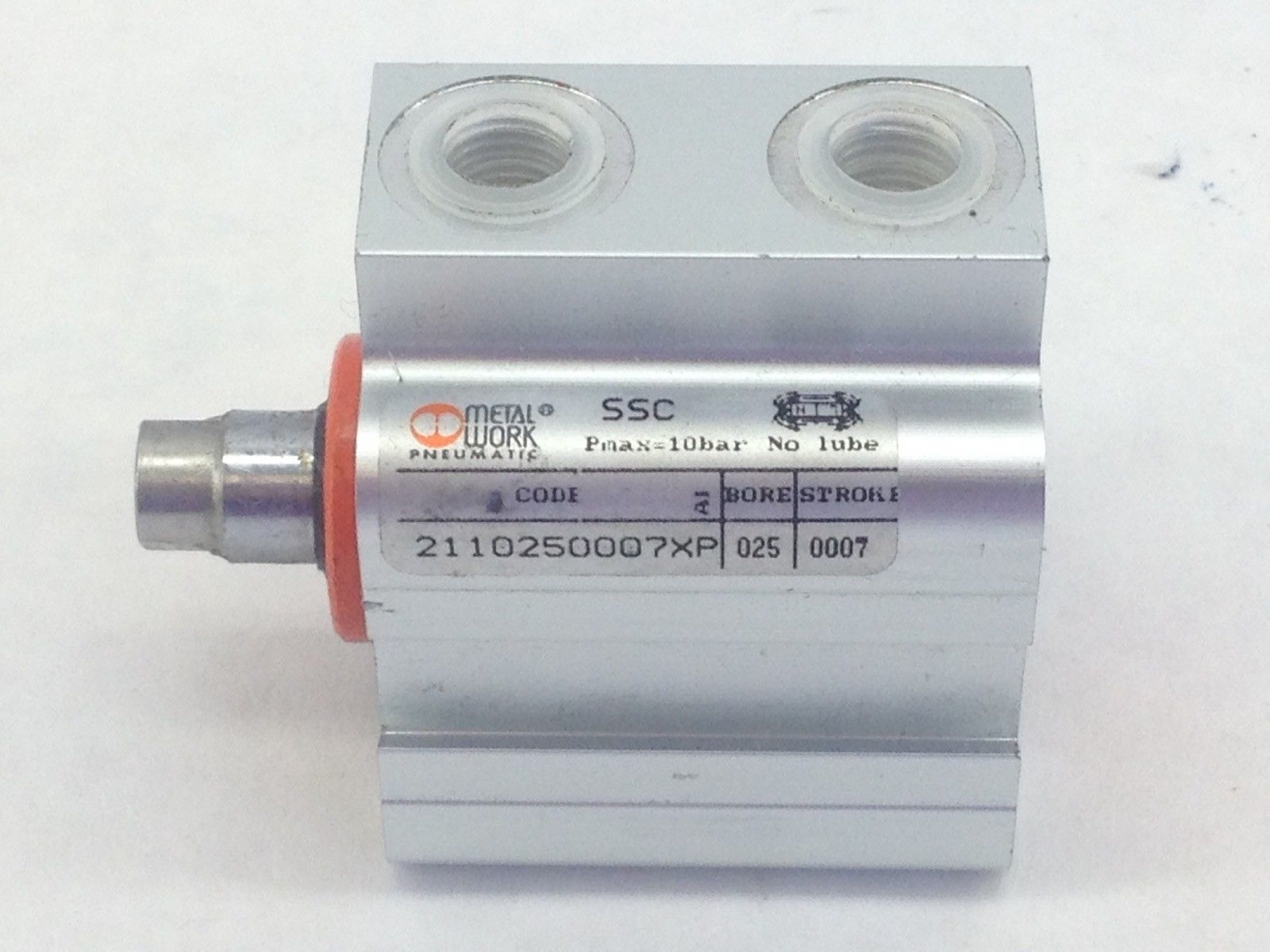 METAL WORK PNEUMATICS 2110250007XP COMPACT AIR CYLINDER (A822) 1