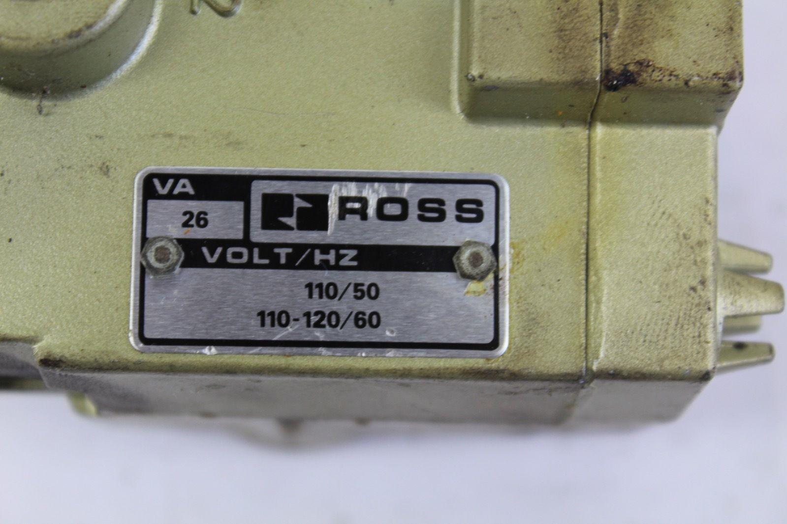 Ross 110/120V 50/60Hz 26VA Solenoid Valve *NEW* (F224) 2