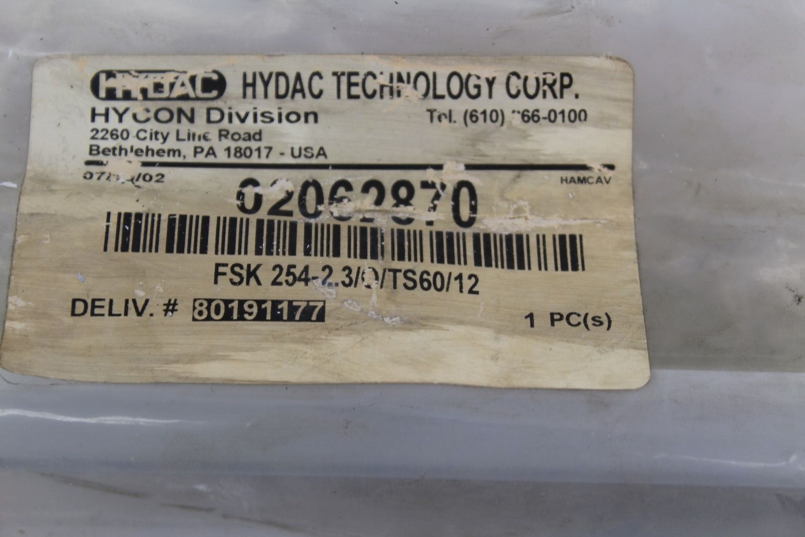 Hydac Glass Sight FSK 254-2