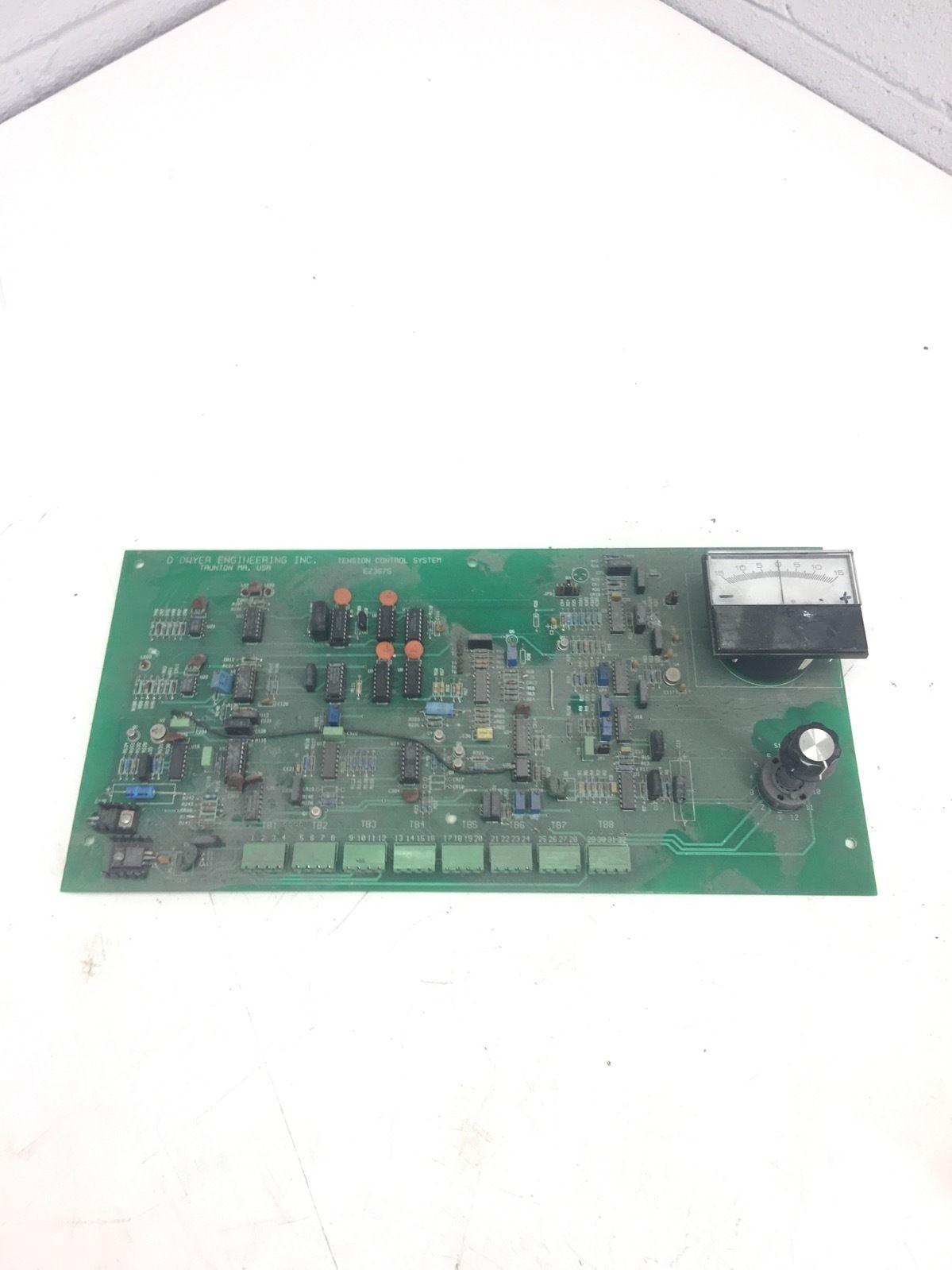USED O DWYER ENGINEERINGÂ EZ3675 TENSION CONTROL SYSTEM PC BOARD, (B273) 1