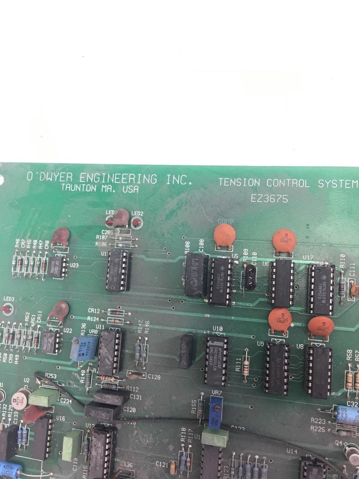 USED O DWYER ENGINEERINGÂ EZ3675 TENSION CONTROL SYSTEM PC BOARD, (B273) 2