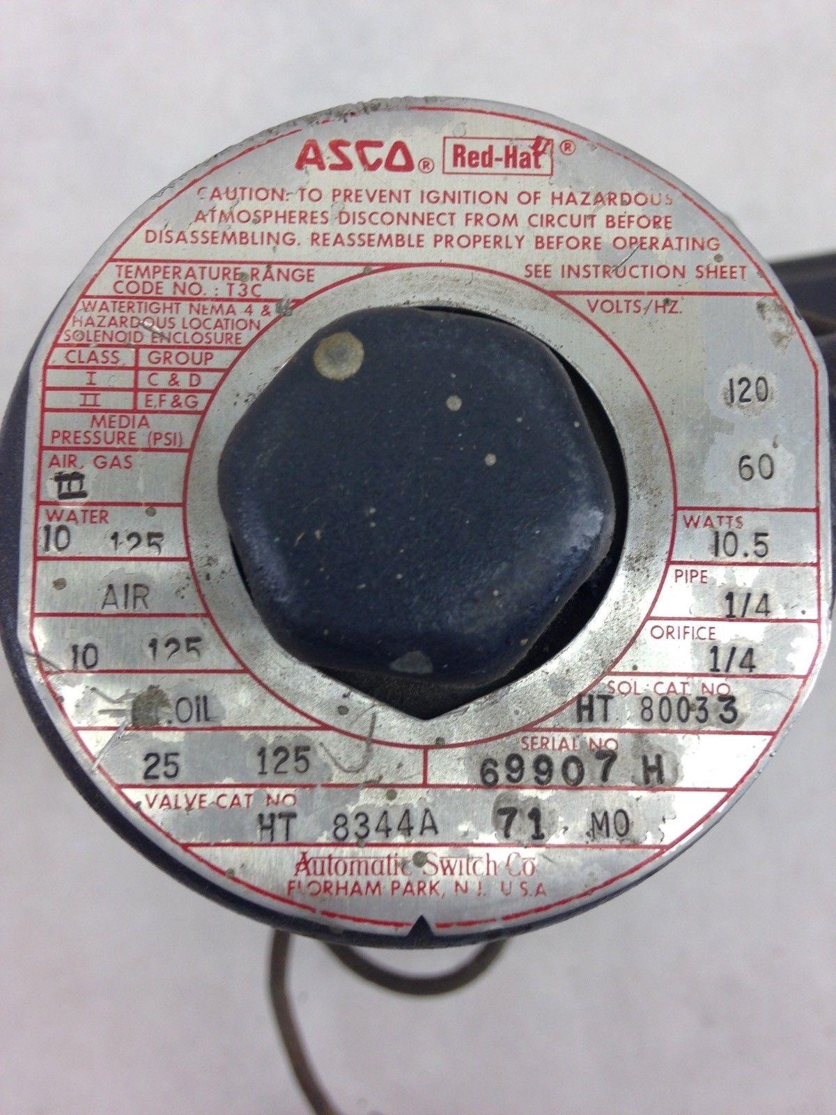 ASCO RED HAT 8344AV 71 SOLENOID VALVE (F283) 2