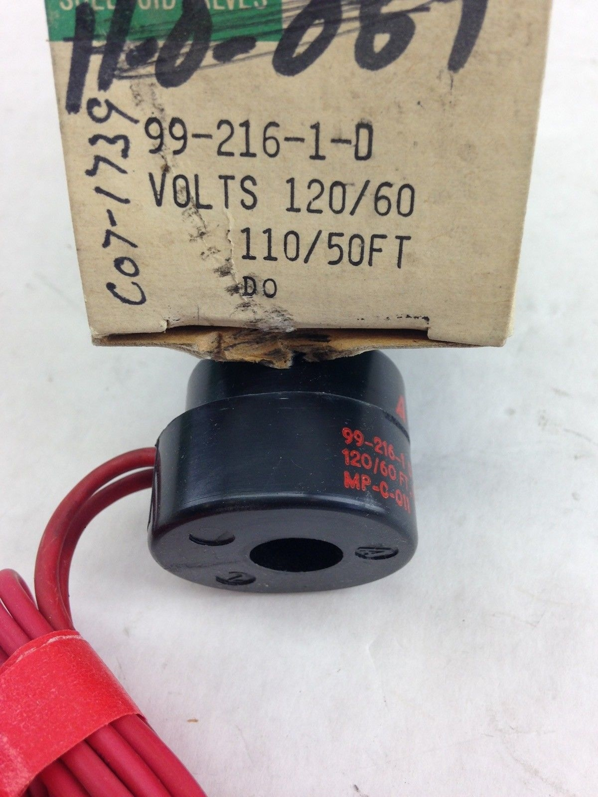ASCO RED HAT 99-216-1-D SOLENOID VALVE COIL (A828) 2
