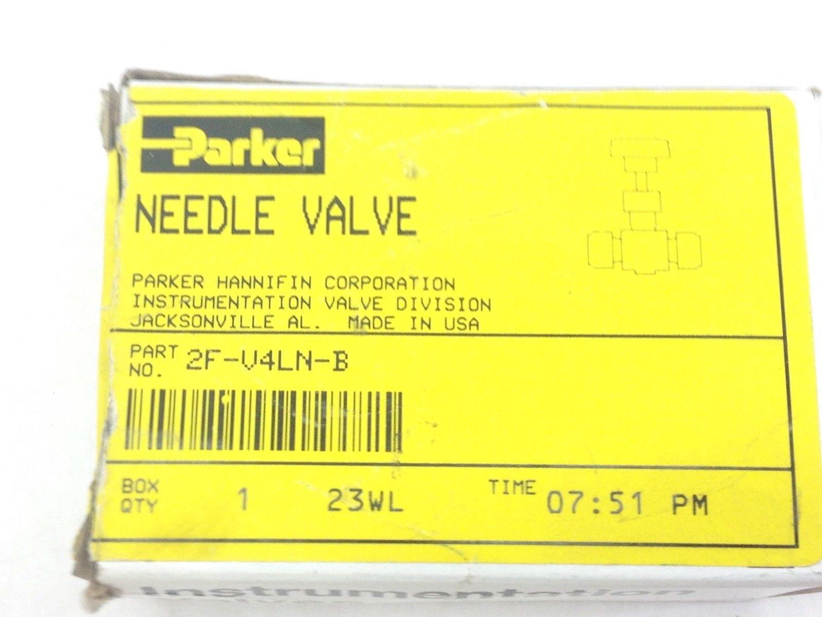 PARKER 2F-V4LN-B NEEDLE VALVE (A832) 1