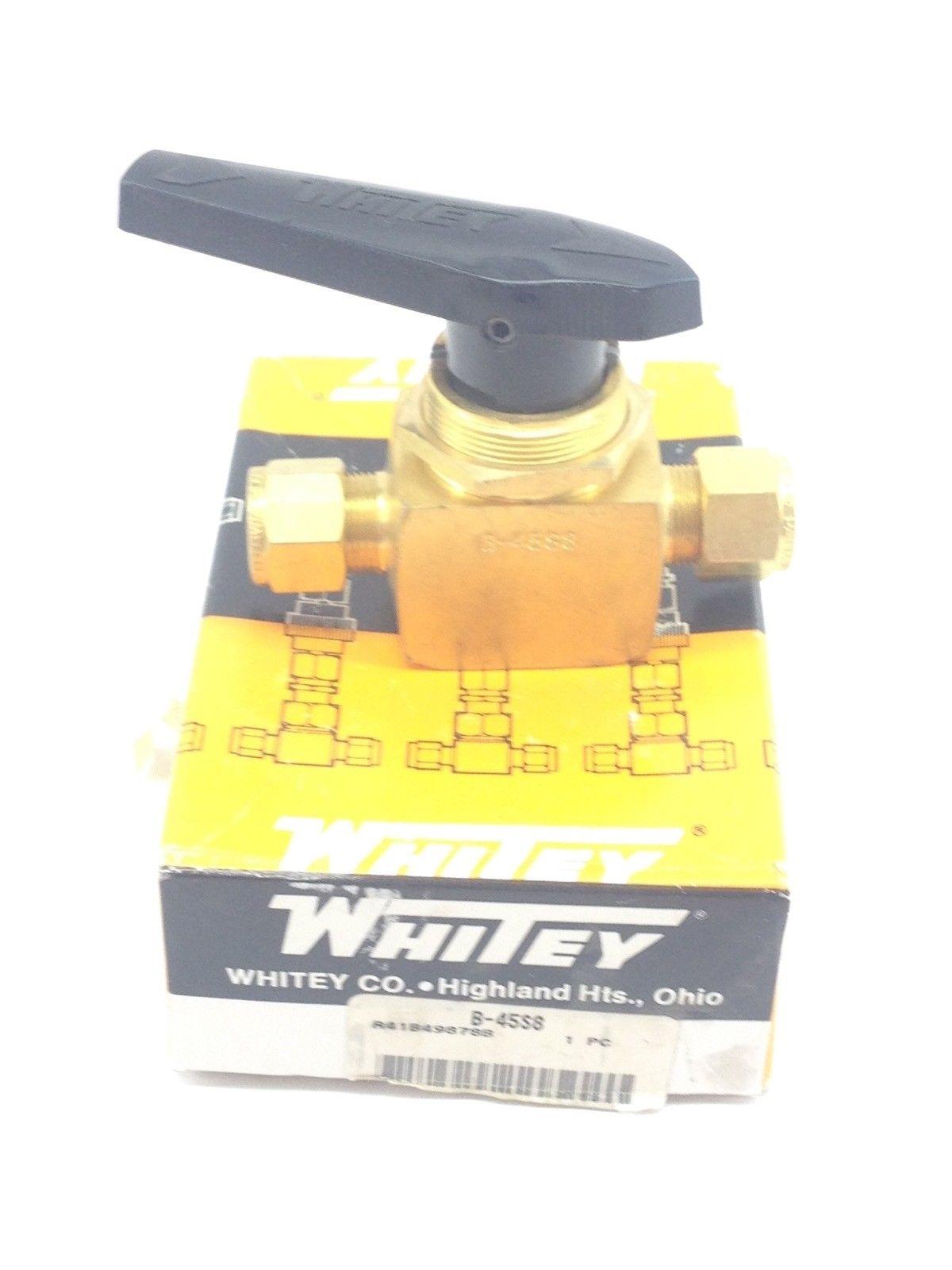 WHITEY B-45S8 THREADED BALL VALVE BRASS (H340) 1