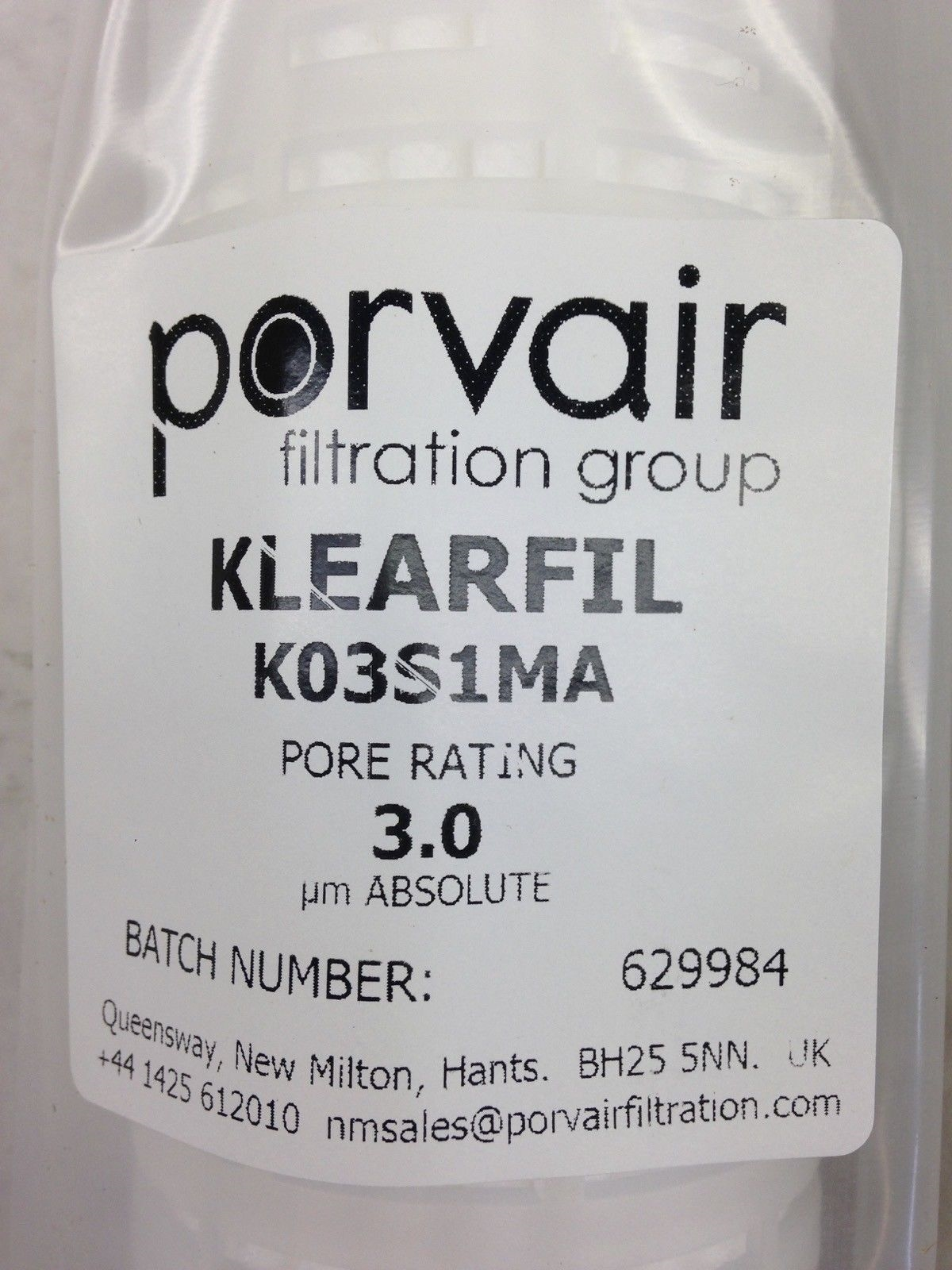 PORVAIR FILTRATION GROUP KLEARFIL KO3S1MA (B444) 2