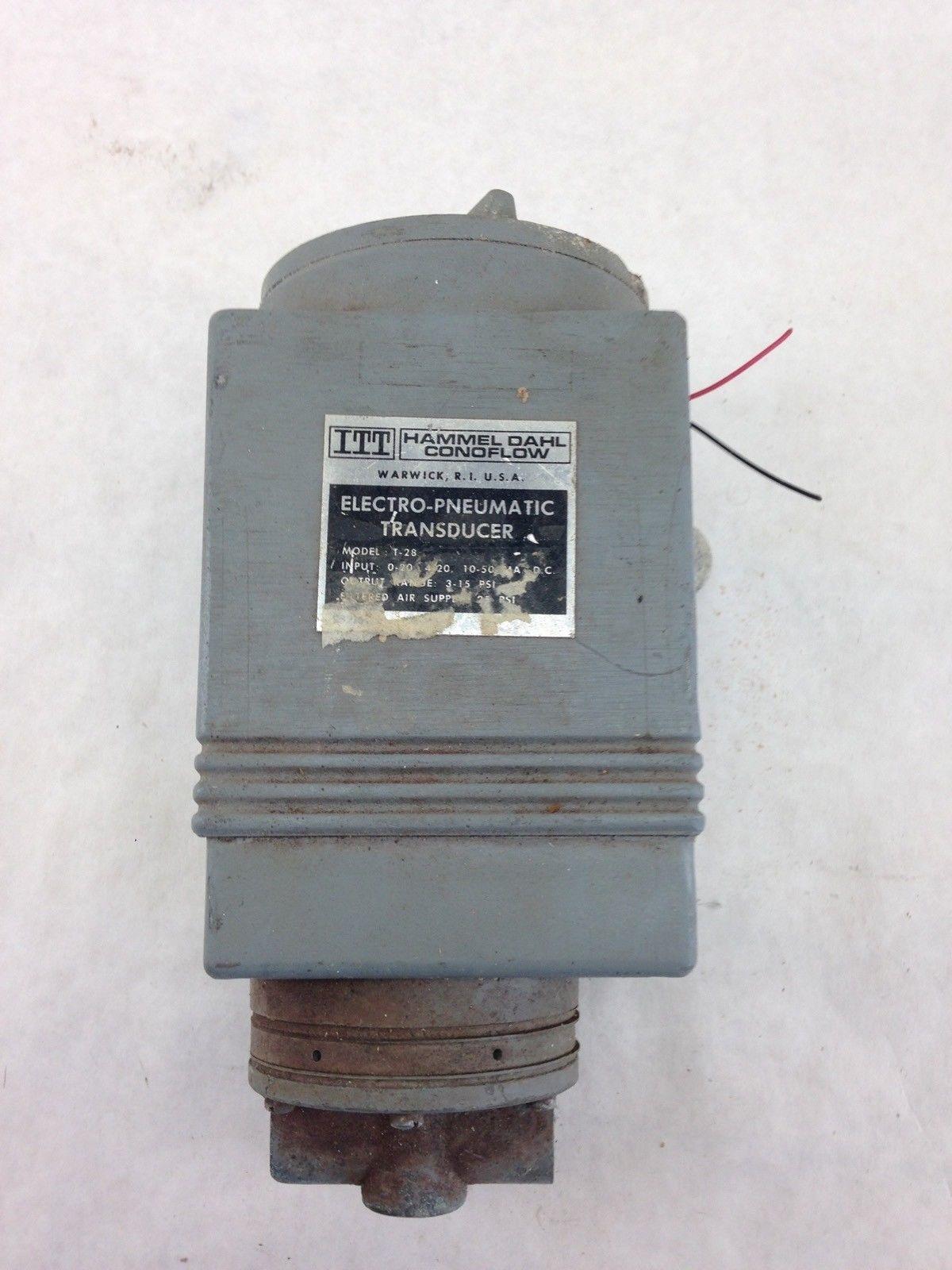 HAMMEL DAHL CONOFLOW T-28 ELECTRO-PNEMATIC TRANSDUCER (B443) 1