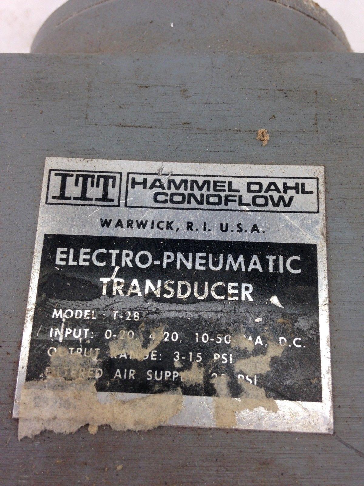 HAMMEL DAHL CONOFLOW T-28 ELECTRO-PNEMATIC TRANSDUCER (B443) 2