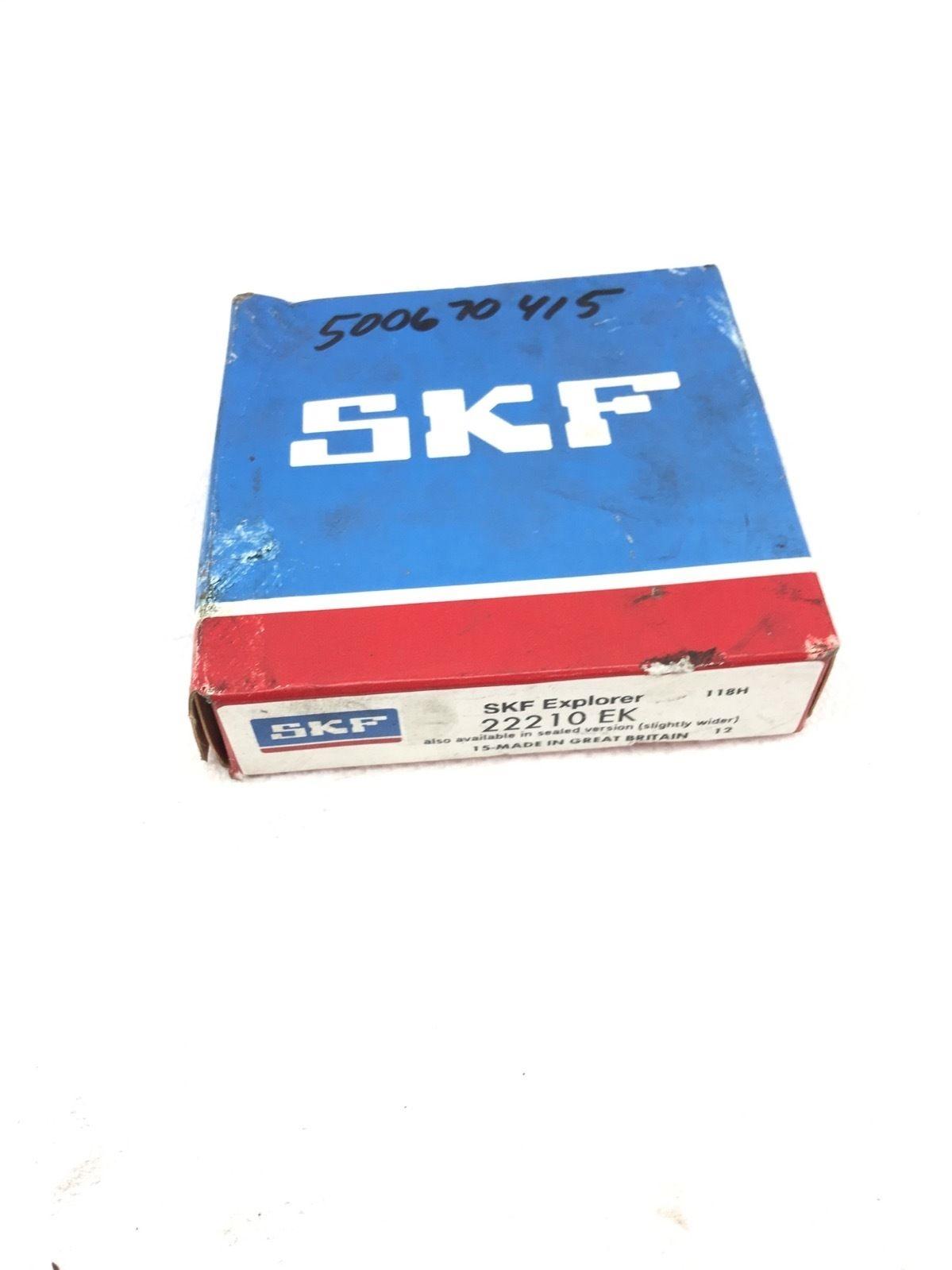 NEW IN BOX SKF 22210 EK SPHERICAL ROLLER BEARING 22210EK, FAST SHIP! (H227) 1