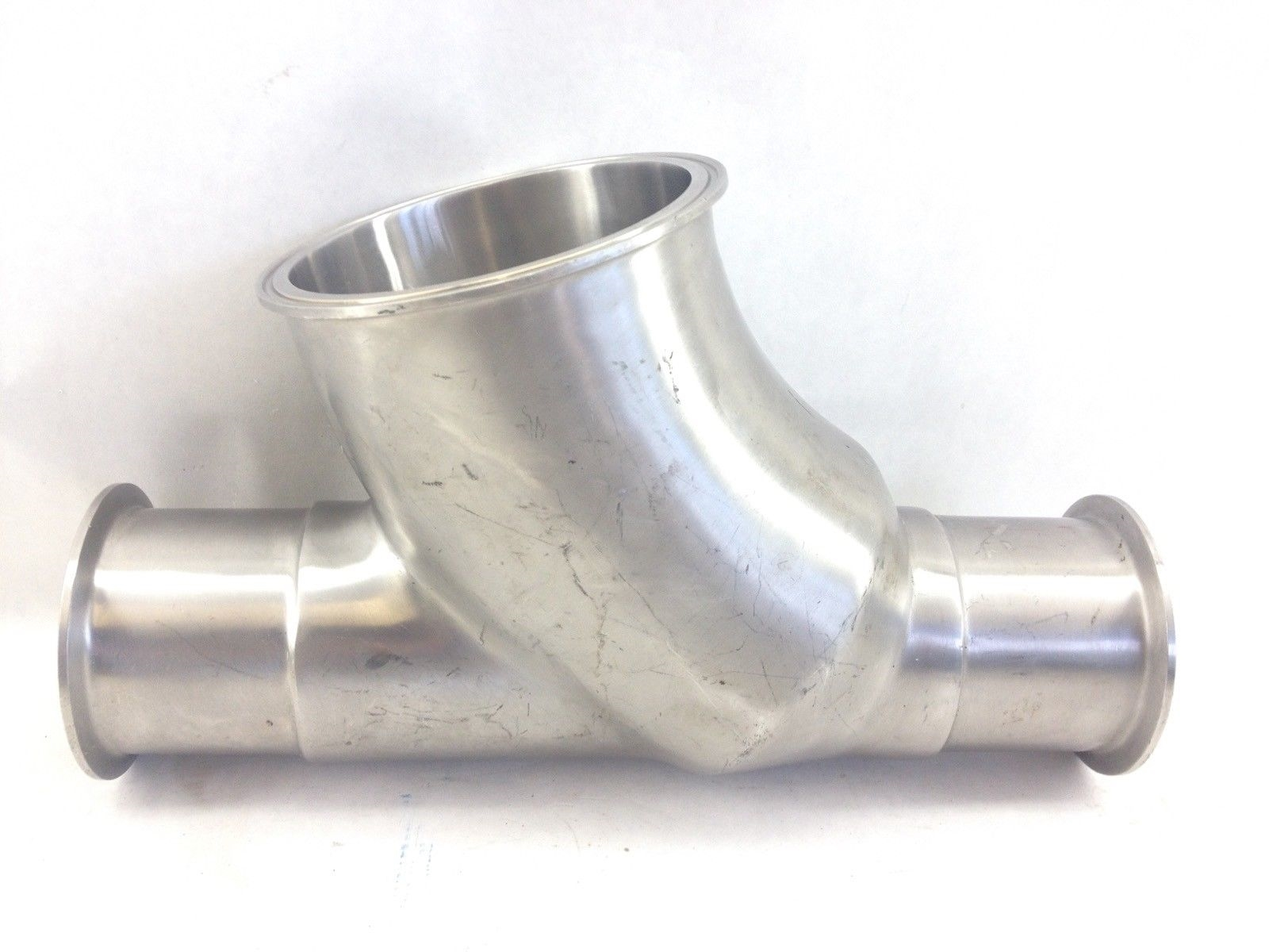 SS SANITARY FITTING WELD LATERAL 45* BALL CK VALVE HOUSING 2.75-4