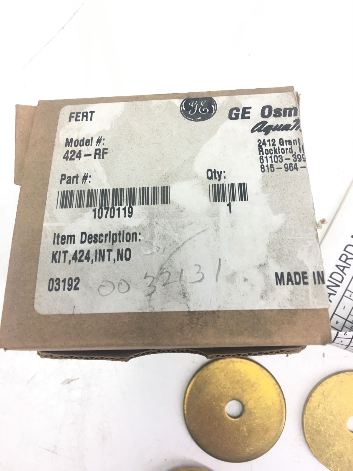 NEW IN BOX Aquamatic  424-RF  INTERNAL PARTS KIT, NORMALLY OPEN VALVES, F230 2