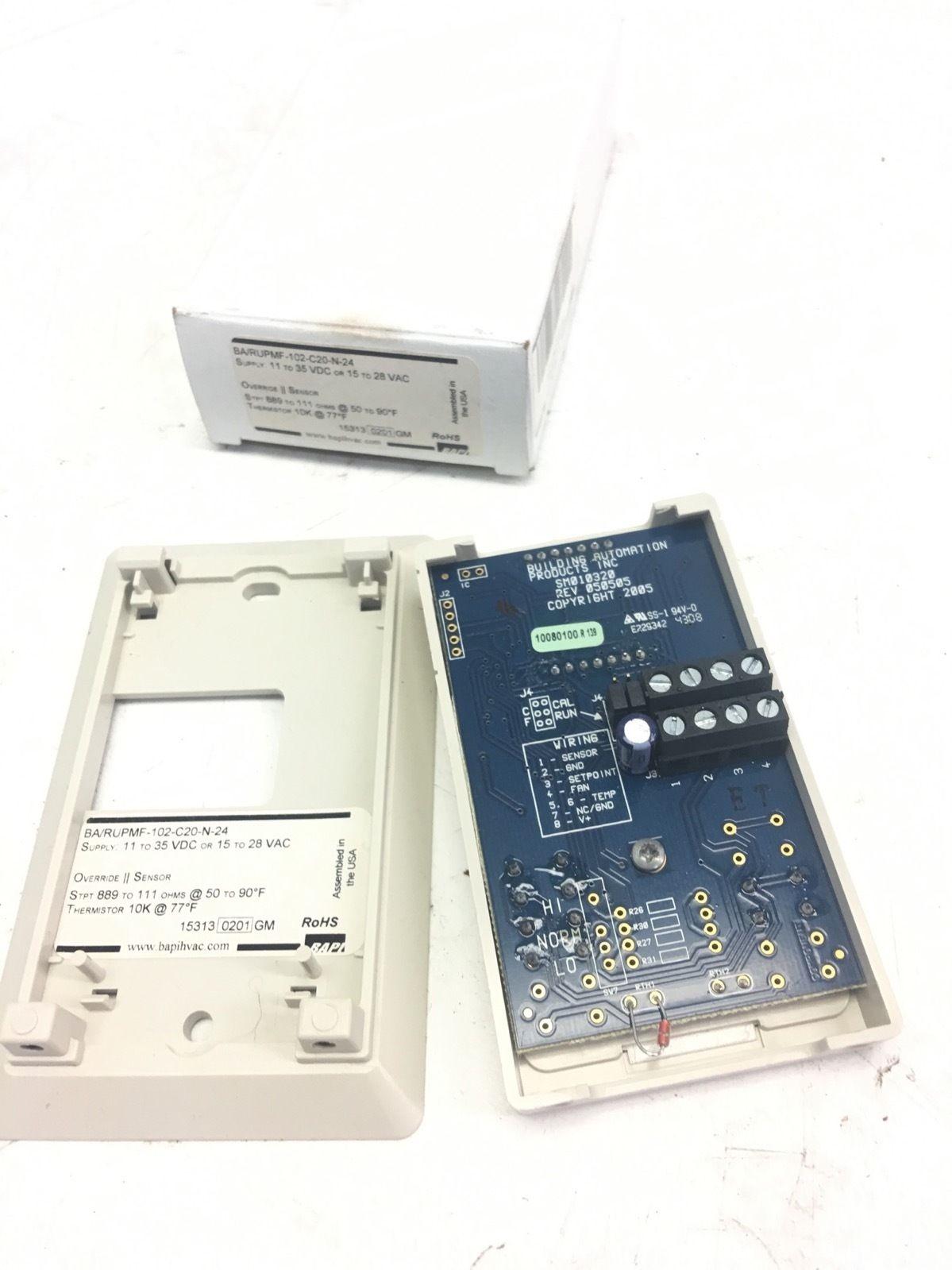 NEW IN BOX BAPIÂ BA/RUPMF-102-C20-N-24 ROOM UNIT TEMP SENSOR OVERRIDE, F230 1