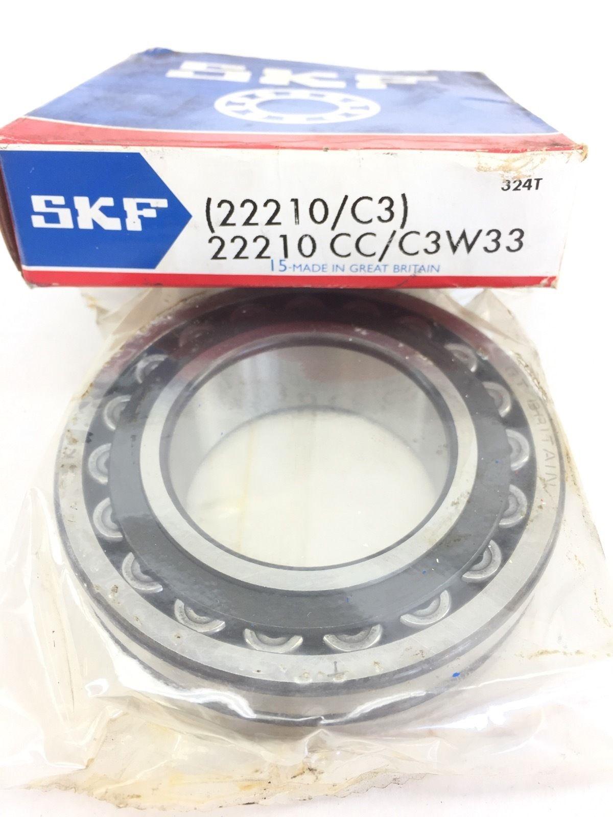 NIB SKF 22210 CC C3 W33 SPHERICAL ROLLER BEARING NEW IN BOX (A398) 2