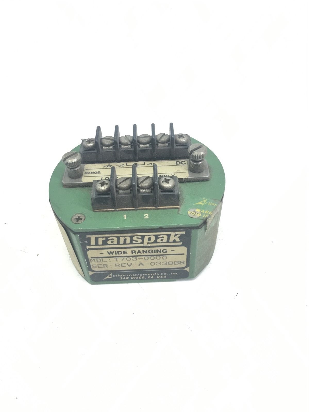 NEW TRANSPAK WIDE RANGING TRANSMITTER T703-0000, REVISION A, FAST SHIPPING, F229 1