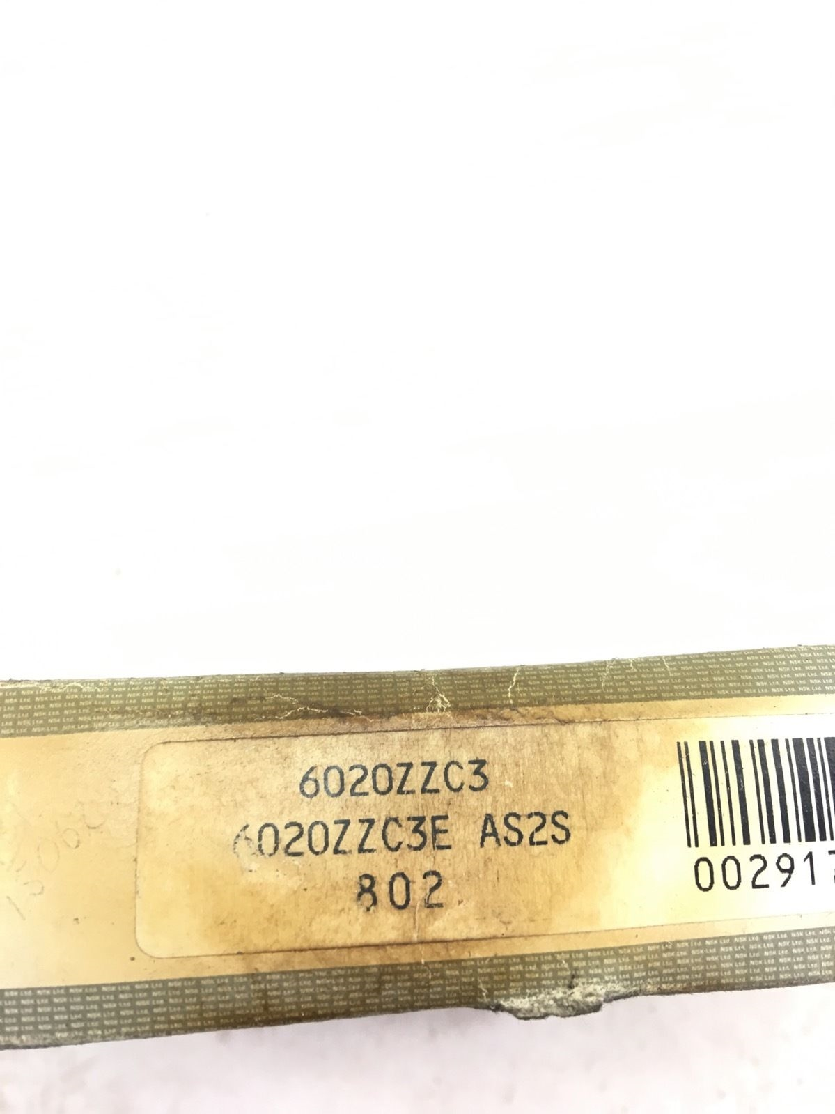NEW IN BOXÂ NSK BEARINGS 6020ZZC3 Metal Shielded Deep Groove Ball Bearing, B377 2
