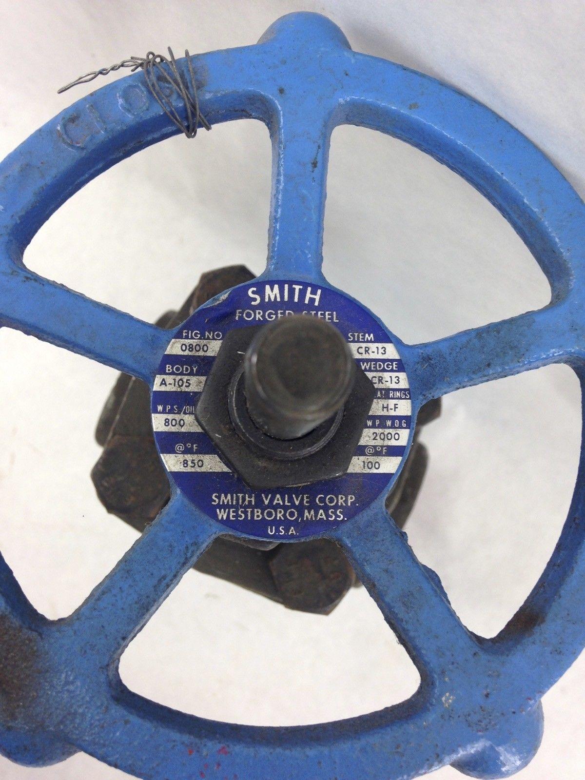SMITH GATE VALVE 1 1/2� FORGED STEEL (B446) 2