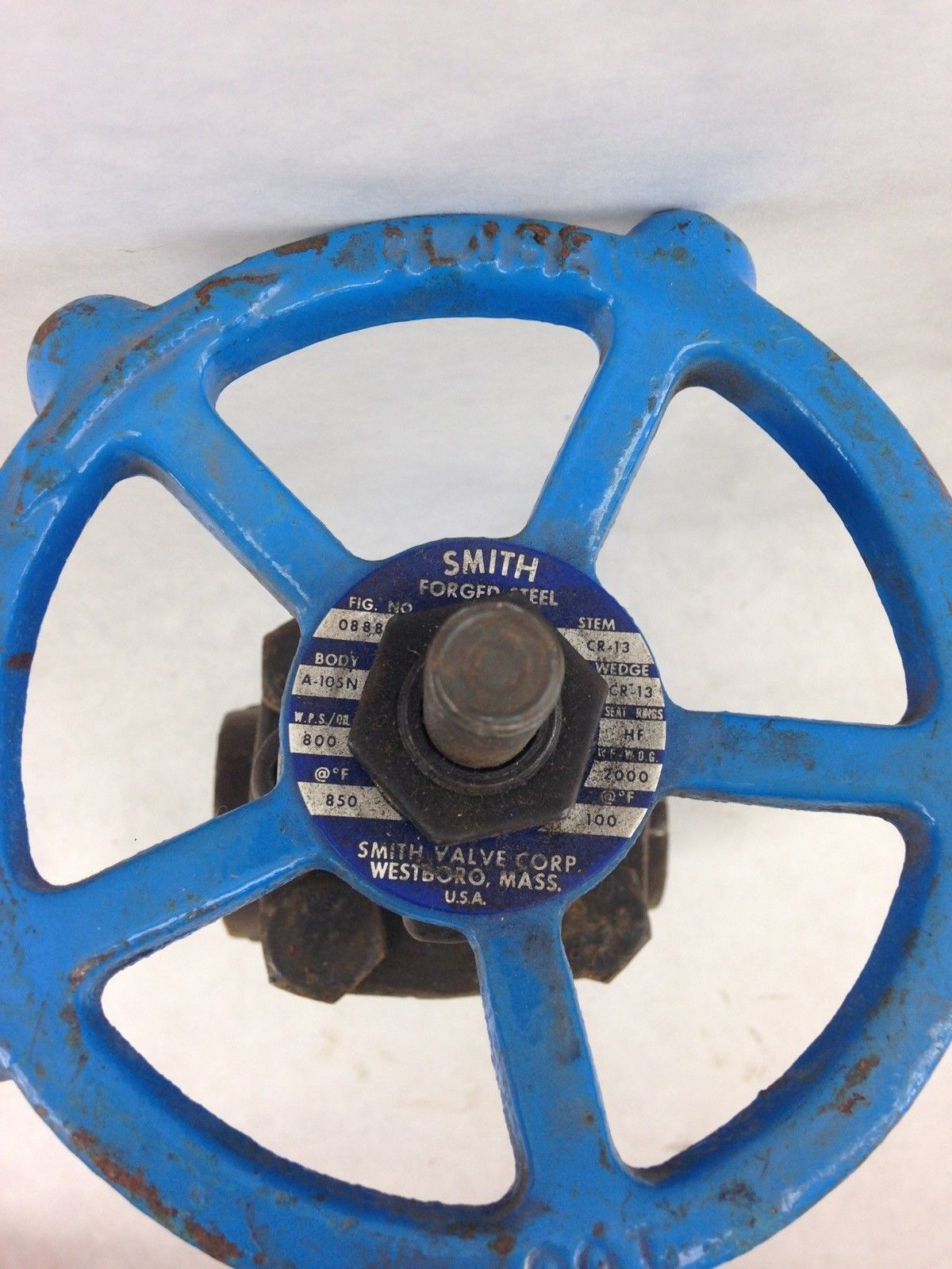 SMITH GATE VALVE A105KZ 1″ FORGED STEEL (B446) 2