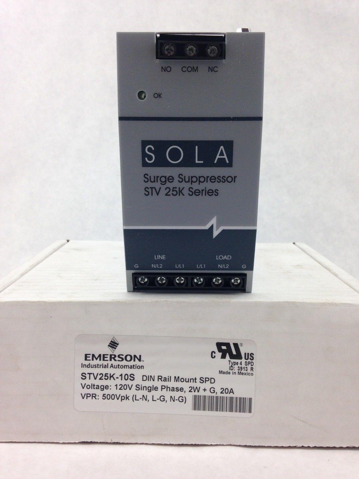 SOLA EMERSON STV25K 10S 120V SURGE SUPPRESSOR (B418) 1