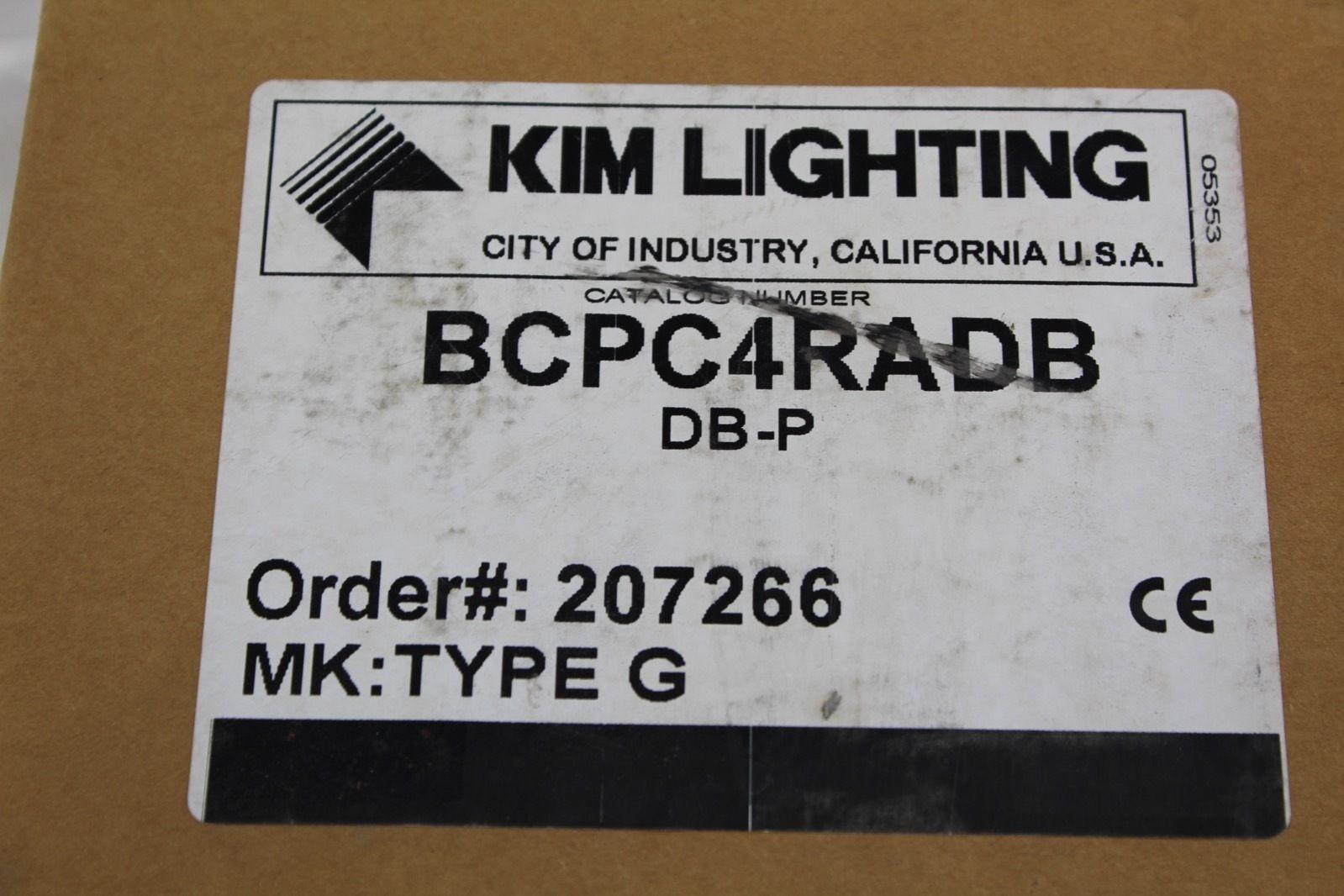 Kim Lighting Light cover Cat #: BCPC4RADB *new* (B232) 5