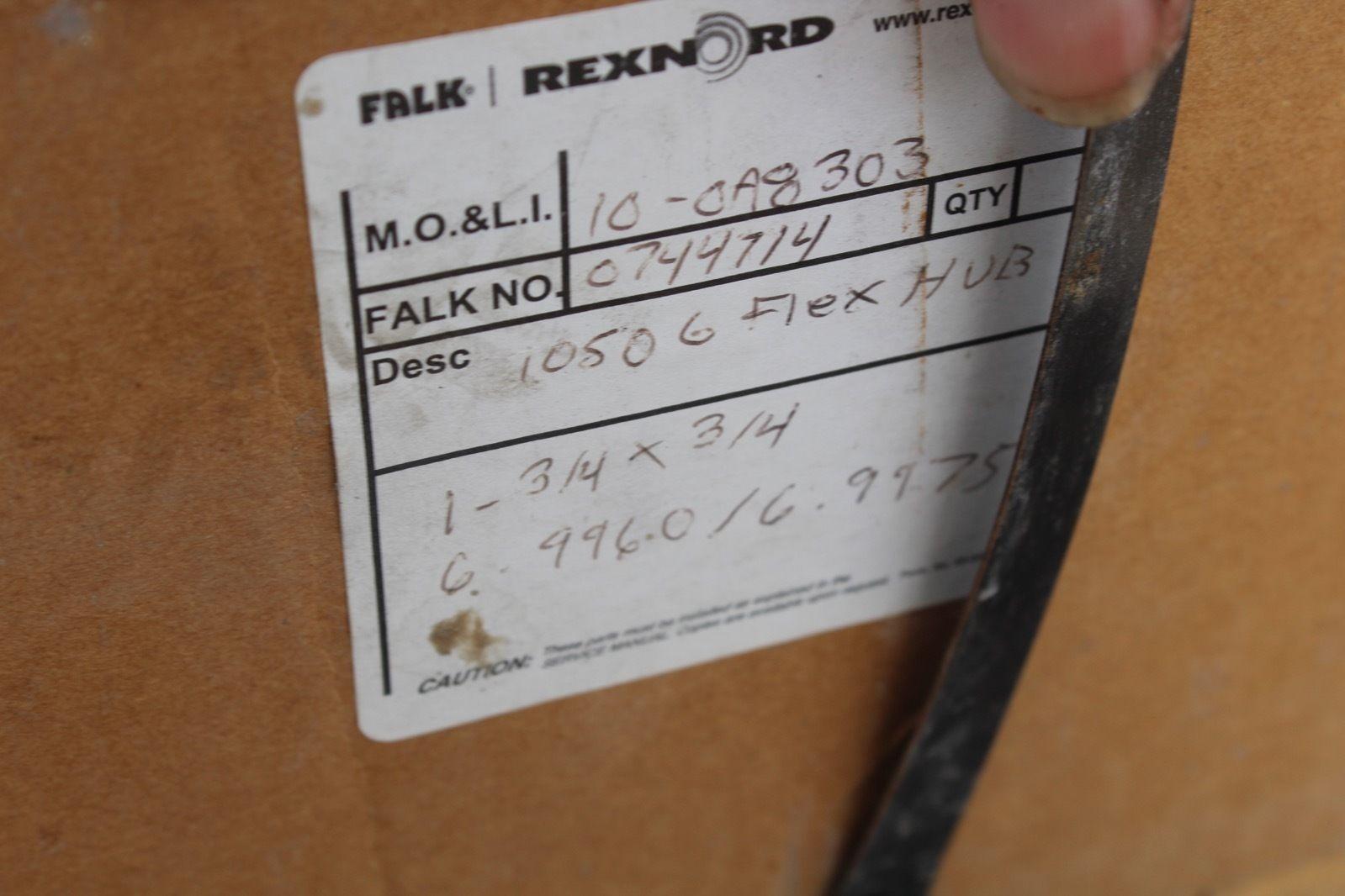 Rexnord Falk 10506 Flex Hub 1 3/4 X 3/4 0744714 *new* (connex) 2