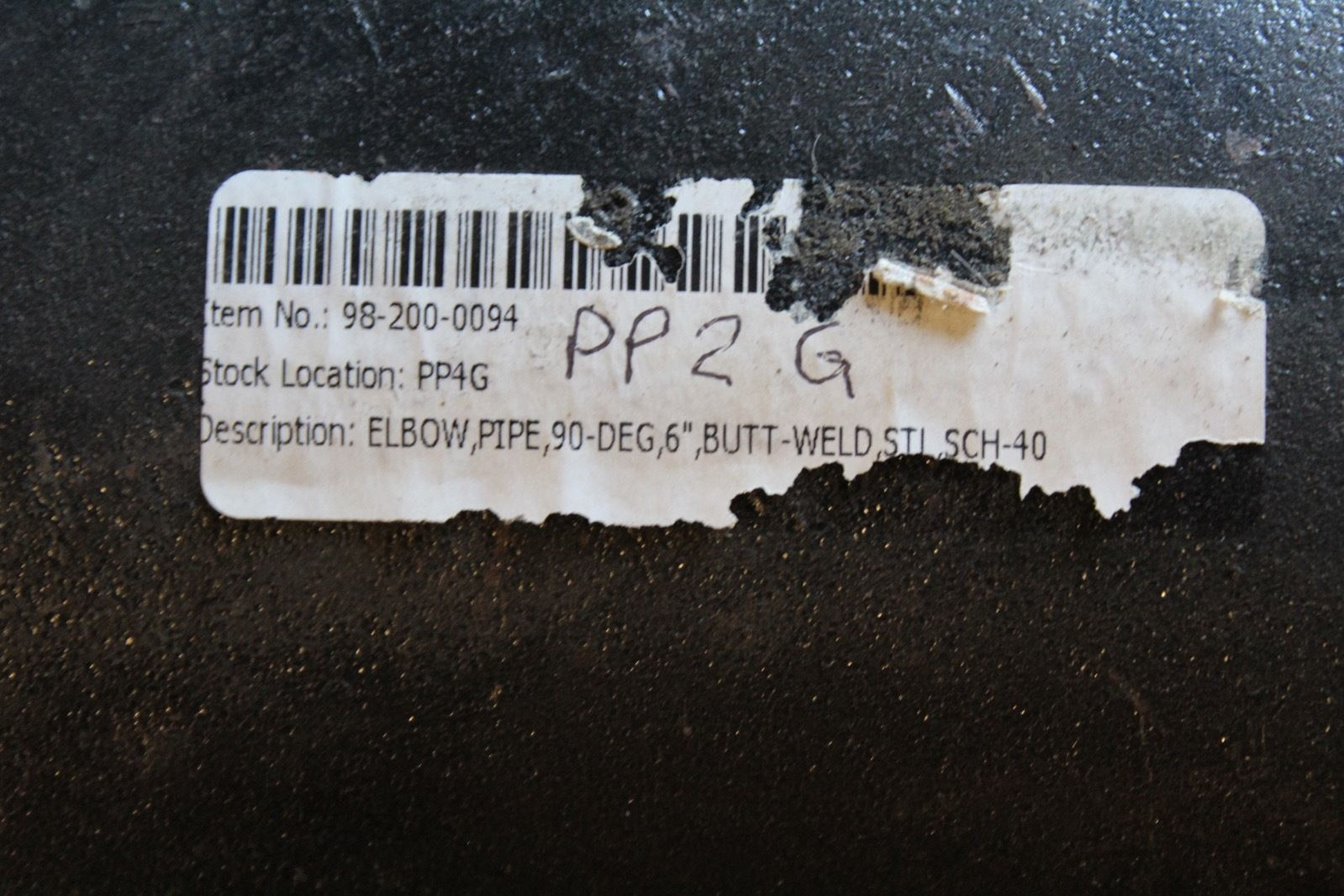 Elbow pipe 90 Deg 6� Butt-weld SCH-40 (P23) 2