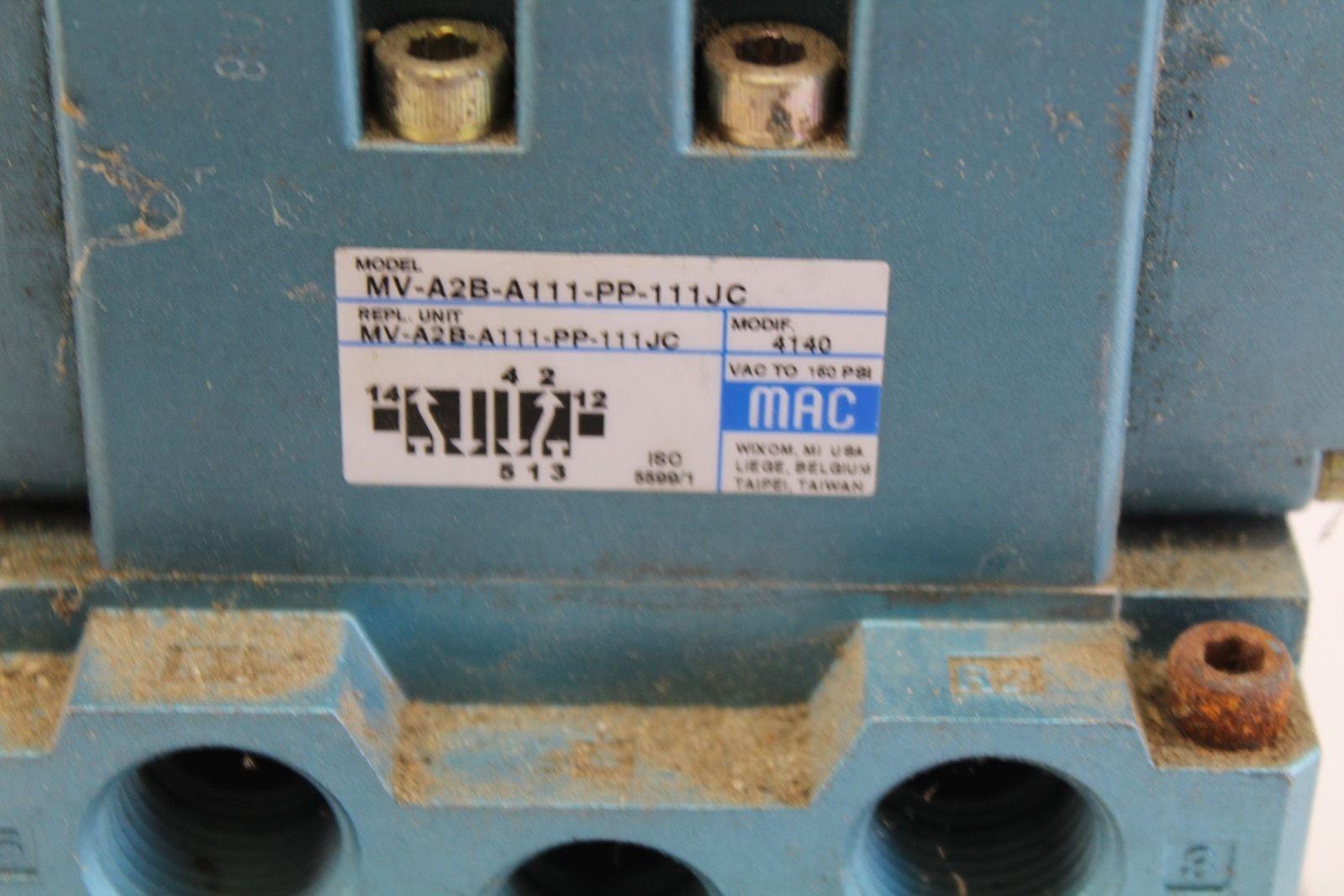 Mac Servo Valve MV-A2B-A111-PP-111JC with connector PPE-111JC *used* (B235) 2