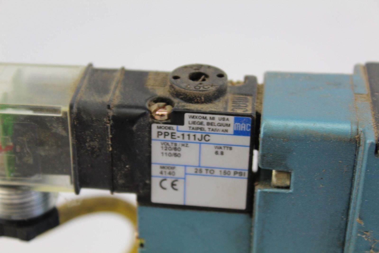 Mac Servo Valve MV-A2B-A111-PP-111JC with connector PPE-111JC *used* (B235) 3