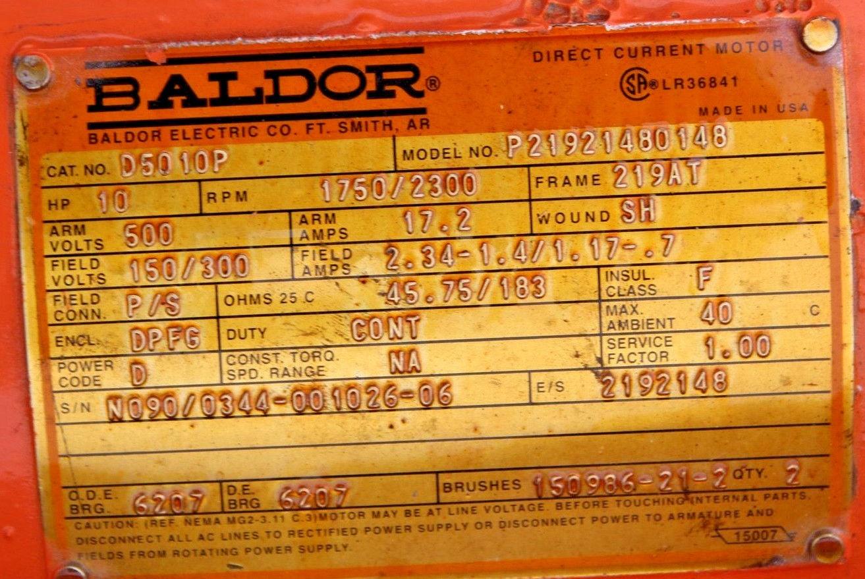Baldor DC Motor Cat: D5010P Model: P21921480148 *NEW* (Connex) 2