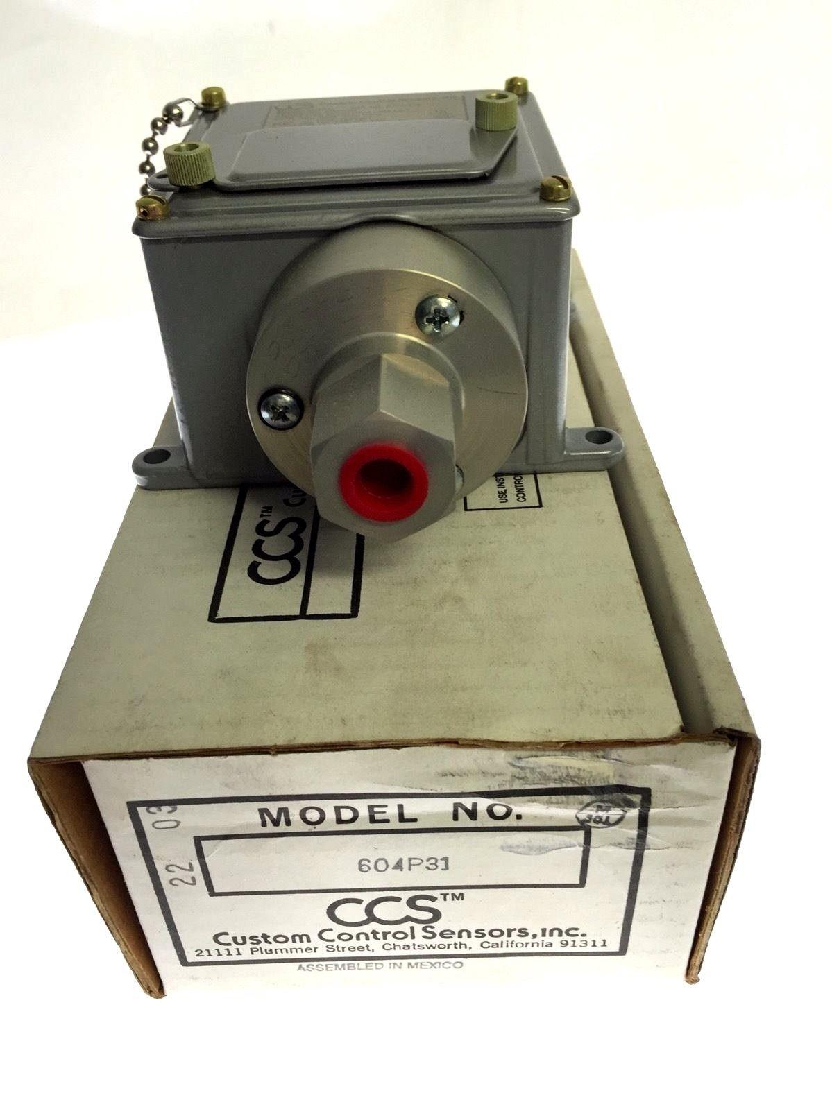 CUSTOM CONTROL SENSORS 604P31 2000/4700 PSIG 15A PRESSURE SWITCH NEW IN BOX H89 1