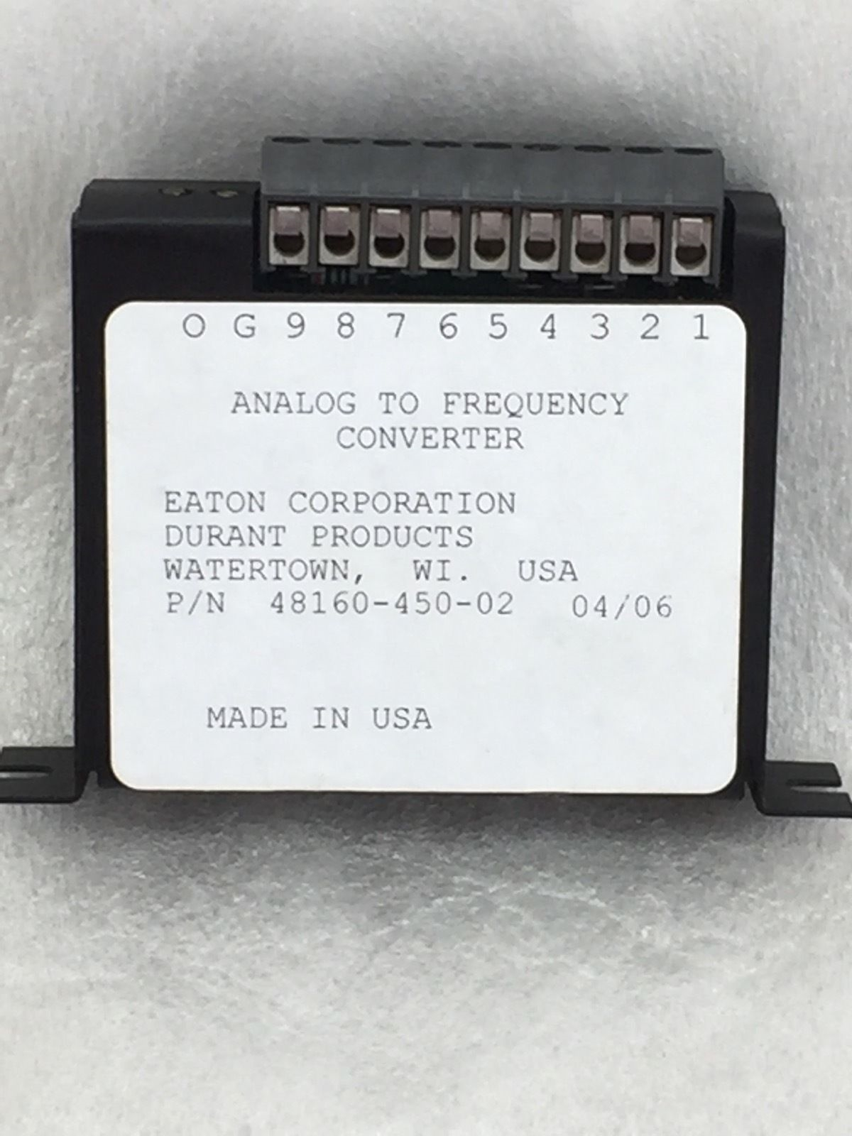 NEW! EATON DURANT 48160450 ANALOG TO FREQUENCY CONVERTER (H72) 1