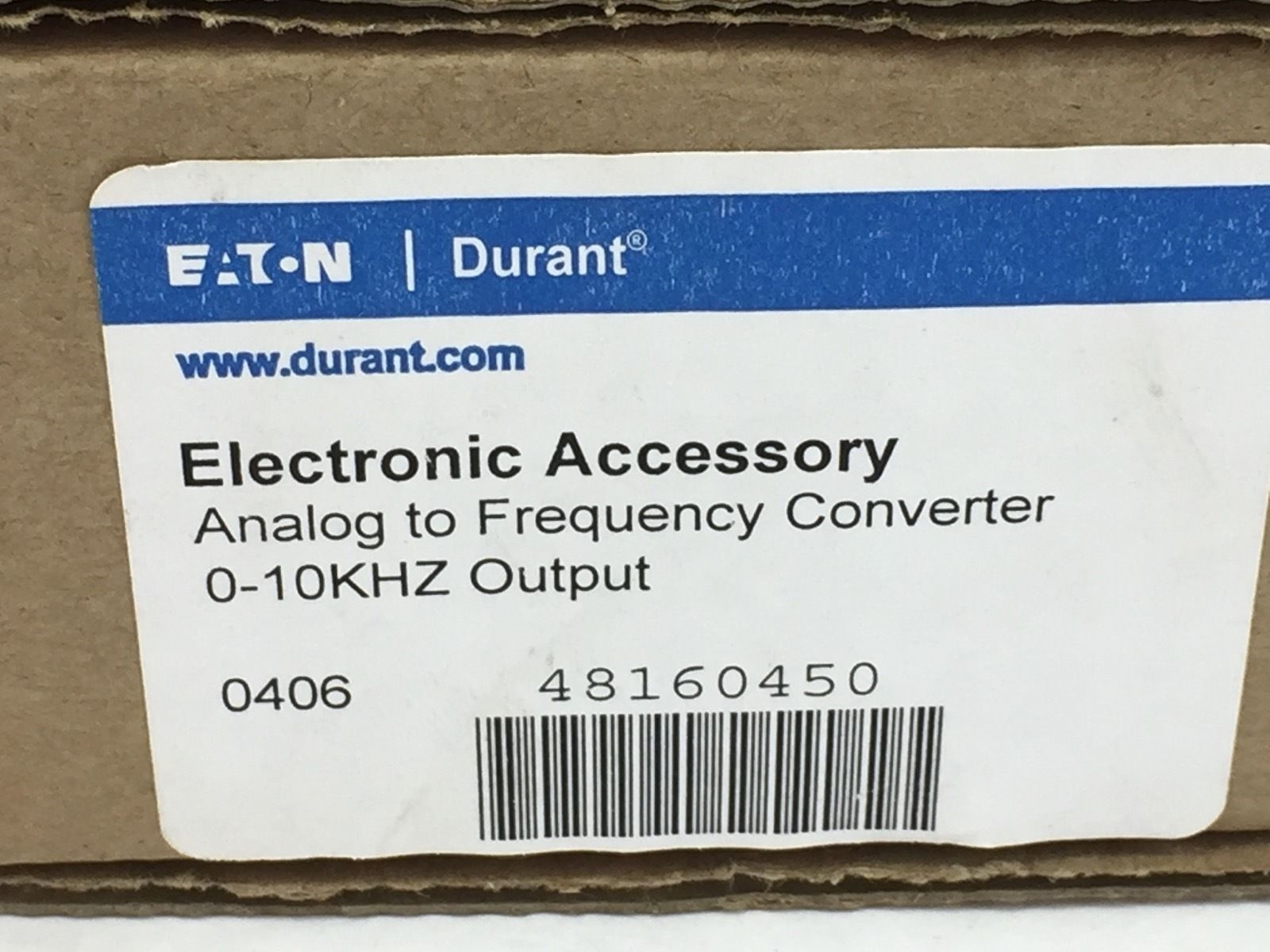 NEW! EATON DURANT 48160450 ANALOG TO FREQUENCY CONVERTER (H72) 2